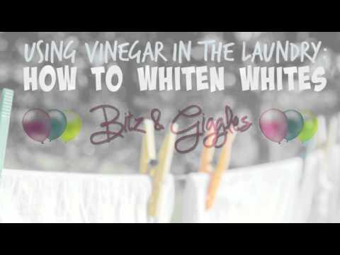How to Whiten Whites Using Vinegar