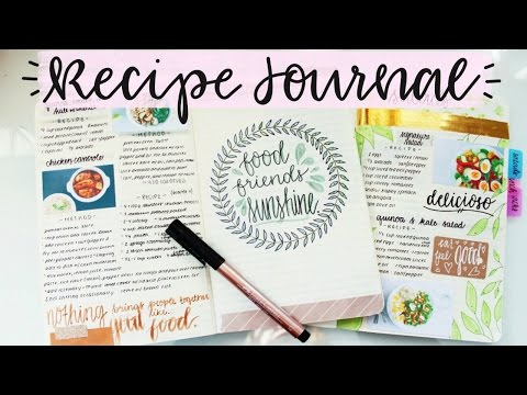 Recipe Journal Setup and Flip Through
