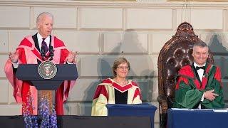 US Vice President Joe Biden receives honorary degree from Trinity College Dublin