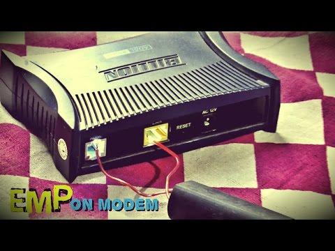 High Voltage Generator EMP Device Tested on Internet Modem