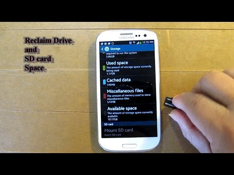 Reclaim Drive and SD Card Space for Samsung Android Cell phones like galaxy  S models