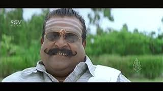 Kannada Comedy scenes - Ambareesh cutting vegetables at home