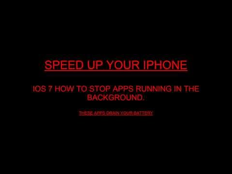 IOS 7 how-to stop apps running in the background