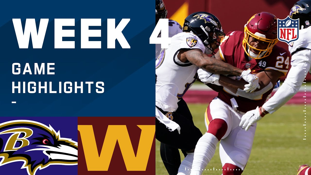 Ravens vs. Washington Football Team Week 4 Highlights | NFL 2020