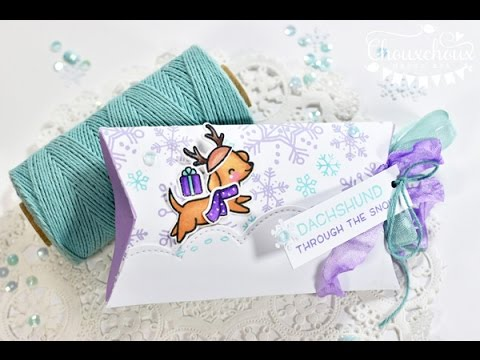 Snowflake Pillowbox Printable + Lawn Fawn