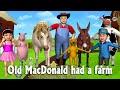 Old Macdonald Had A Farm 3d Animation Animals Songs Nursery