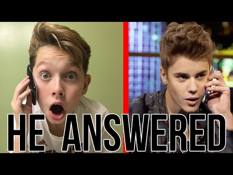 CALLING THE REAL JUSTIN BIEBER *HE ACTUALLY ANSWERED*