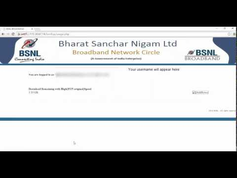 How to top up BSNL broadband after FUP limit