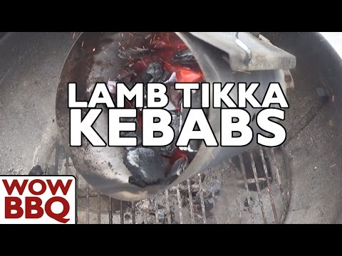 Lamb Tikka Kebabs on Weber Charcoal BBQ