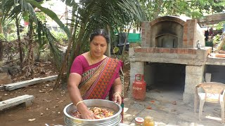 nattu kozhi kuzhambu || chicken curry || village food recipes