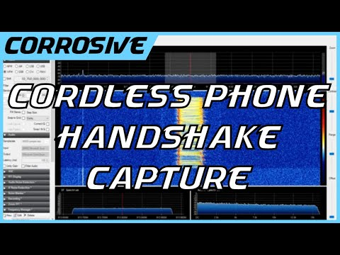 Listening to A Cordless Phone Handshake its Base Station