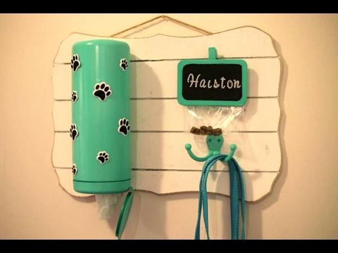 Dog leash station - Pet DIY