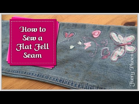 How to Sew a Flat Fell Seam :: by Babs at Fiery Phoenix