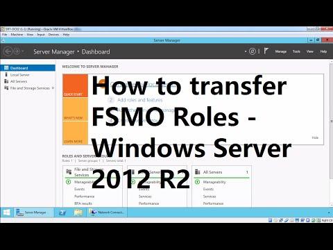 28. FSMO role Transfer - Windows Server 2012 R2