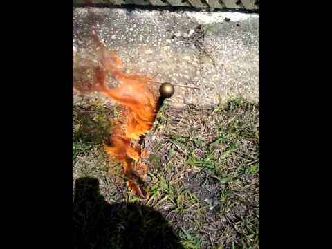 Little American Flag Burning....