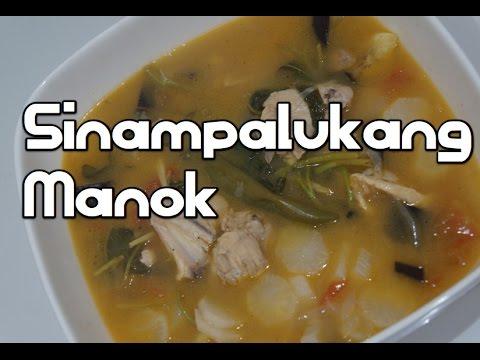 Paano magluto Sinampalukang Manok Recipe - Sour Filipino Soup Tagalog