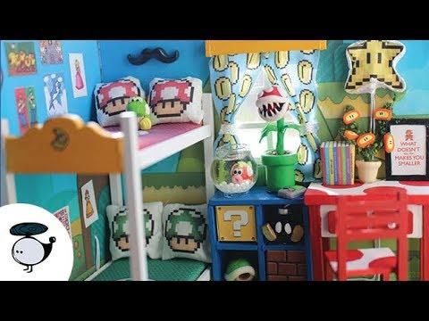 Nintendo Super Mario Brothers DIY Miniature Dollhouse