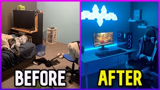 Transforming My Bedroom Into My Dream Gaming Setup *NOT CLICKBAIT*