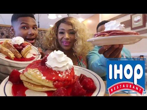 IHOP/RED VELVET PANCAKES/BIG STEAK EGG OMELETTE/NEW YORK STRAWBERRY CHEESE CAKE PANCAKES