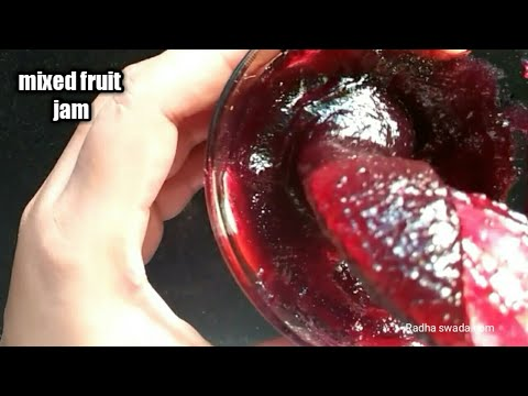 Fruit jam!! Mixed fruit jam!! Fruit jam recipe in Hindi!! Homemade jam!! Jam and jelly!!making jam!!