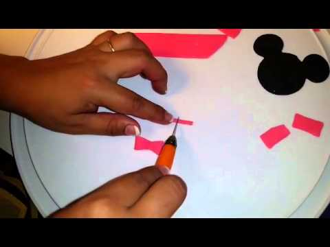 How to Make a Fondant Bow Tutorial for Minnie Mouse