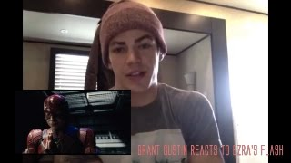 Grant Gustin (The Flash) reacts to Ezra Miller