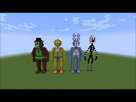 Minecraft Mini Build: FNAF Statues 1987 - Part 1