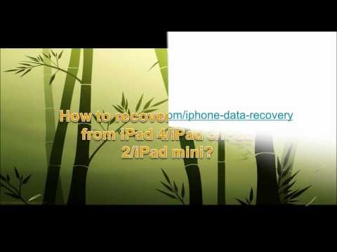 How to recover deleted notes from iPad 4/iPad 3/iPad 2/iPad mini