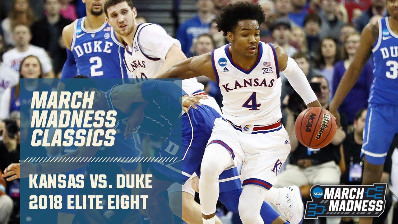 Duke v. Kansas in 2018 Elite Eight (Full Game)