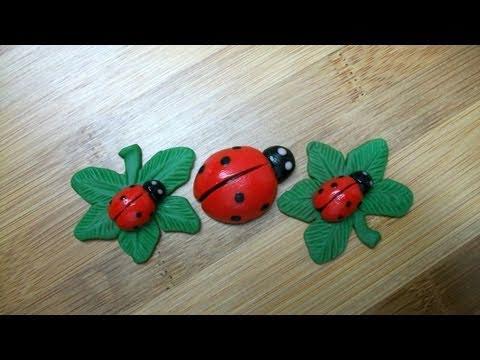 DIY: Polymer clay Lady Bugs!