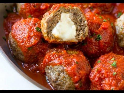 How To Make Slow Cooker Mozzarella Stuffed Meatballs | Recipes | KOOKKU Food