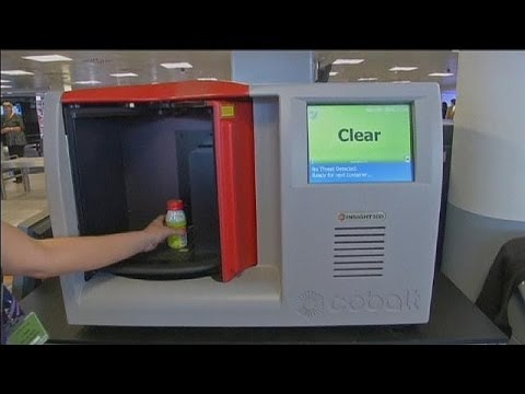 Scanning liquids at airports