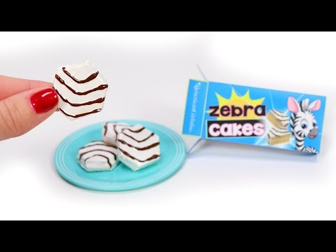 DIY Miniature Zebra Cakes for American Girl Dolls