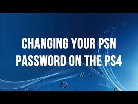 PS4 - Changing Your PSN / SEN Password