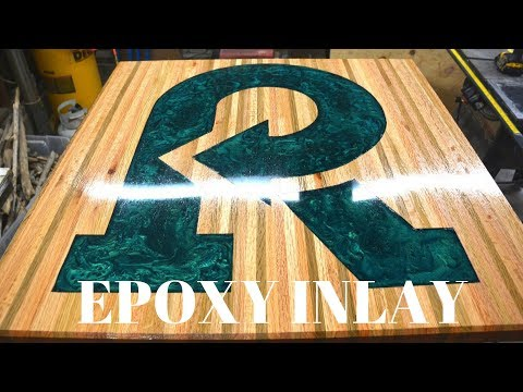 Epoxy Inlay Pedestal Table build