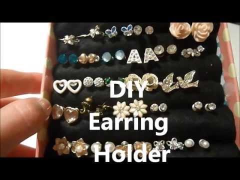DIY earring holder xx