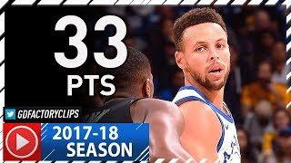 Stephen Curry Full Highlights vs Bulls (2017.11.24) - 33 Pts, 7 Reb / 31 Pts in 1st HALF!