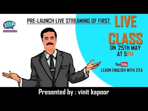 Learn English With ZiTA Live Stream- Introductory Communication Check