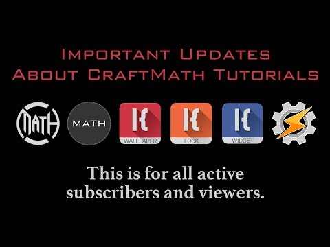 CraftMath Tutorials