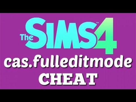 The Sims 4: cas.fulleditmode CHEAT