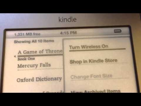 How to turn on wireless for kindle