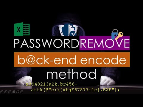 Remove Password in Excel 2016
