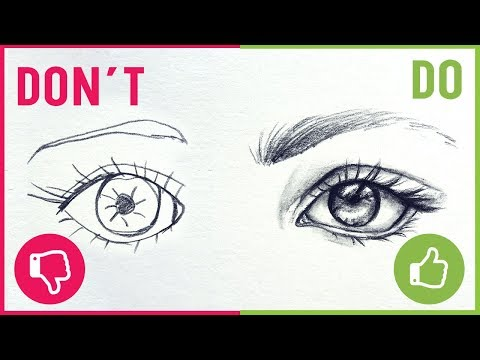 DO'S & DON'TS / How To Draw Realistic Eyes【Easy Drawing Tutorial】