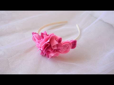 How To Make A Beautiful Flower Hair Band - DIY Crafts Tutorial - Guidecentral