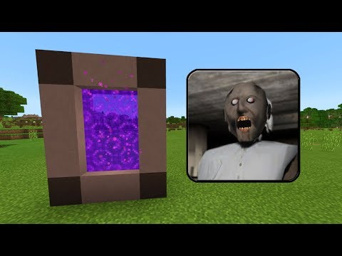 How To Make a PORTAL to the GRANNY HOUSE Dimension in Minecraft PE (Granny Horror Portal in MCPE)