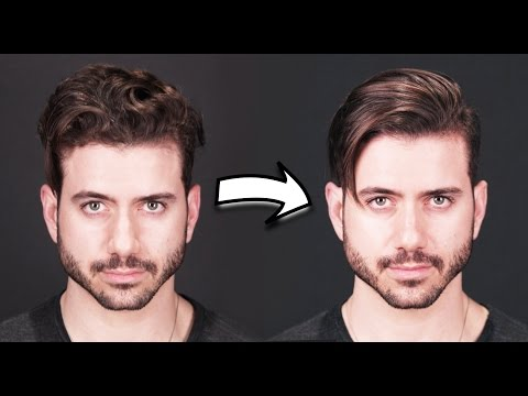 HOW TO GET STRAIGHT HAIR | Men's Curly to Straight Hair Tutorial 2017