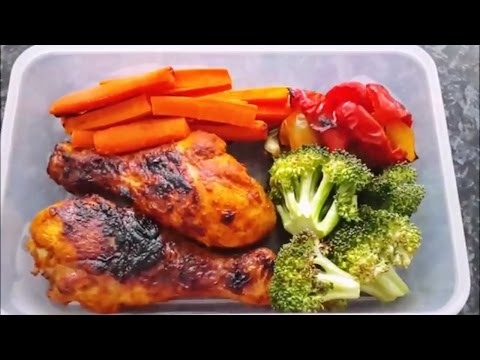 Low carb meal prep. Cheap and easy grilled chicken and vegetables