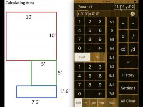 Feet and Inches Calculator - Calculating Area
