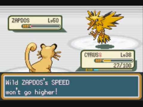 Pokemon Leaf Green Walkthrough Part 57: The Legendary Bird - Zapdos