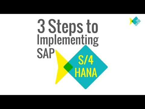 S/4 HANA - 3 steps to Implementation